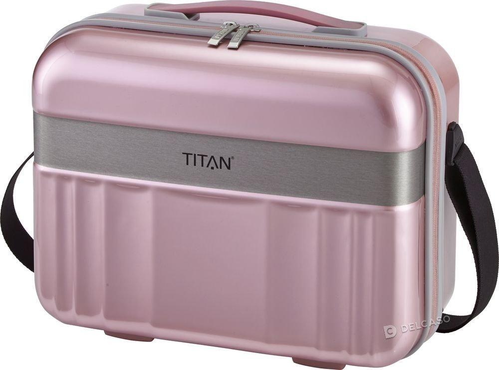 Kuferek / kosmetyczka Titan Spotlight Flash różowa