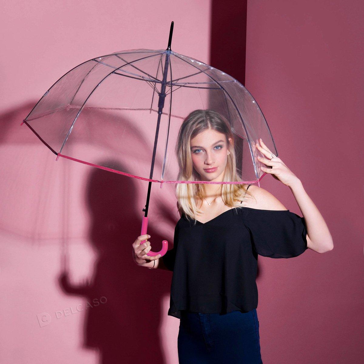 Parasol przeźroczysty Derby Transparent czarny