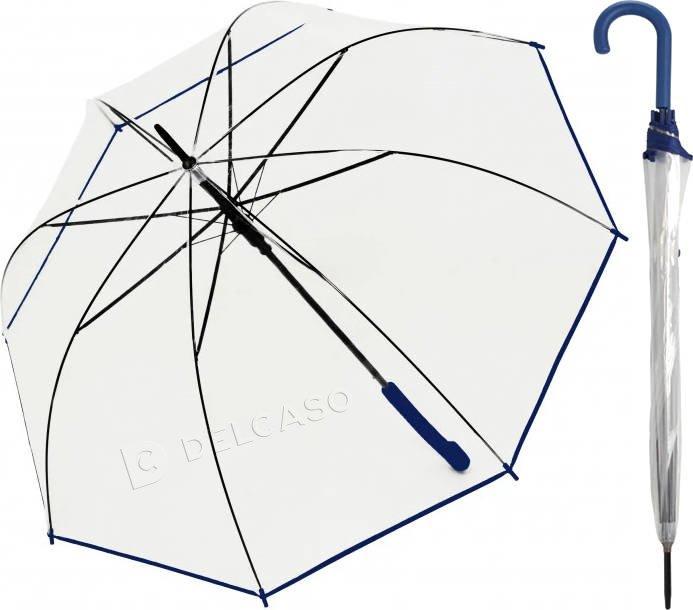 Parasol przeźroczysty Derby Transparent niebieski