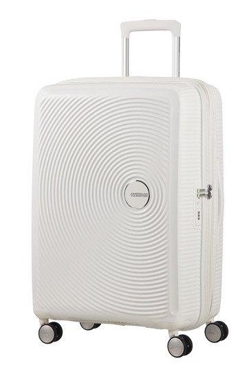 Walizka American Tourister Soundbox 67 cm powiększana biała