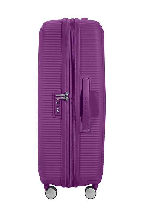 Walizka American Tourister Soundbox 77 cm powiększana fioletowa