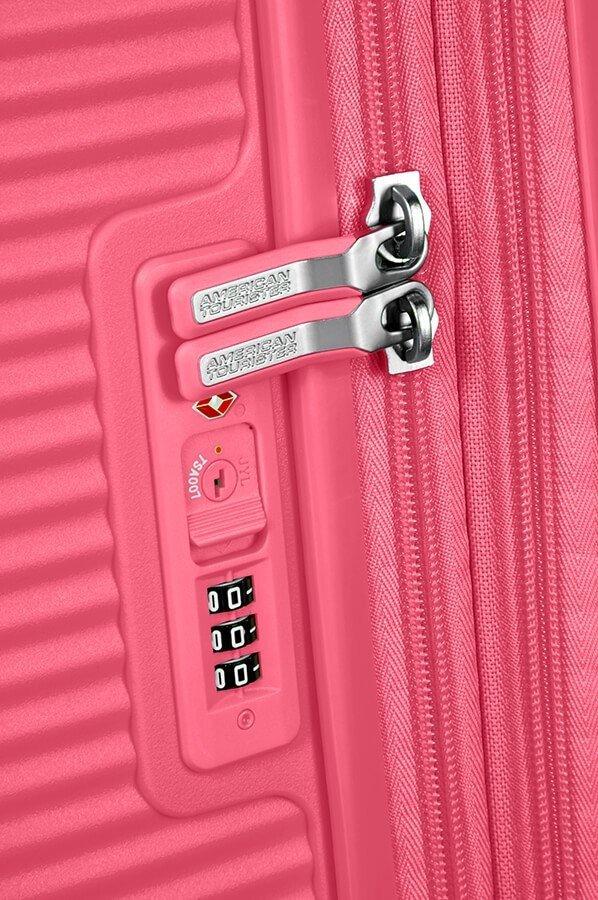 Walizka American Tourister Soundbox 77 cm powiększana różowa
