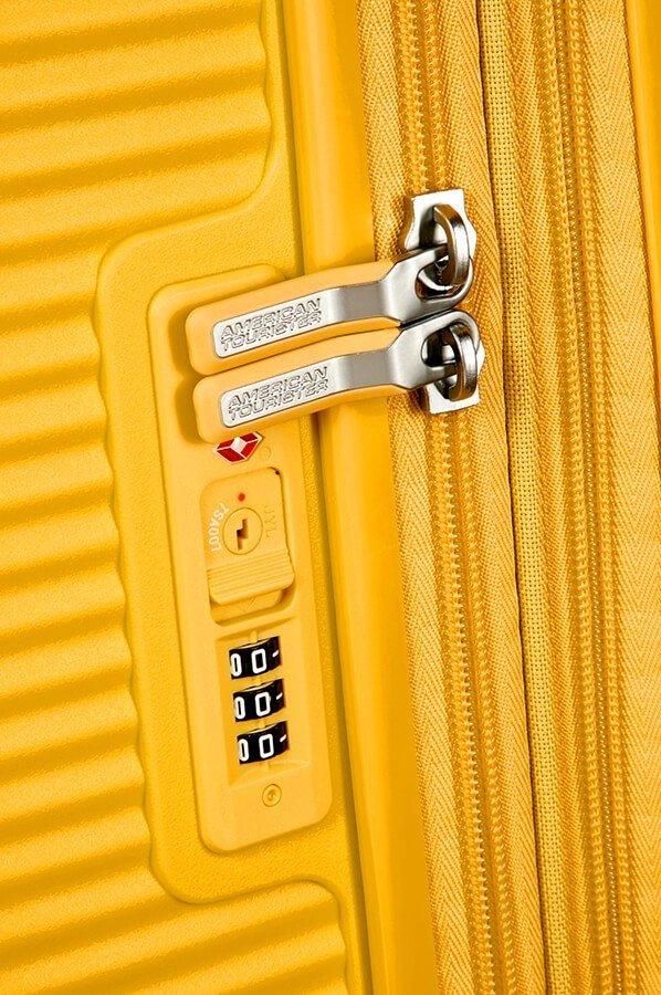 Walizka American Tourister Soundbox 77 cm powiększana żółta