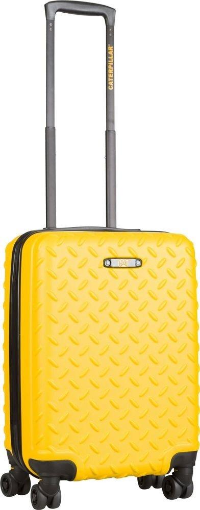 Walizka kabinowa Cat Caterpillar Industrial Plate 55 cm mała żółta