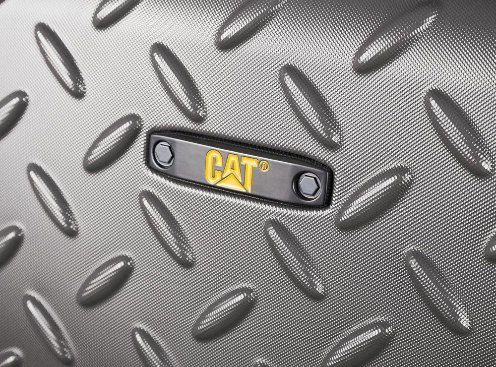 Walizka kabinowa Cat Industrial Plate 54 cm mała szara