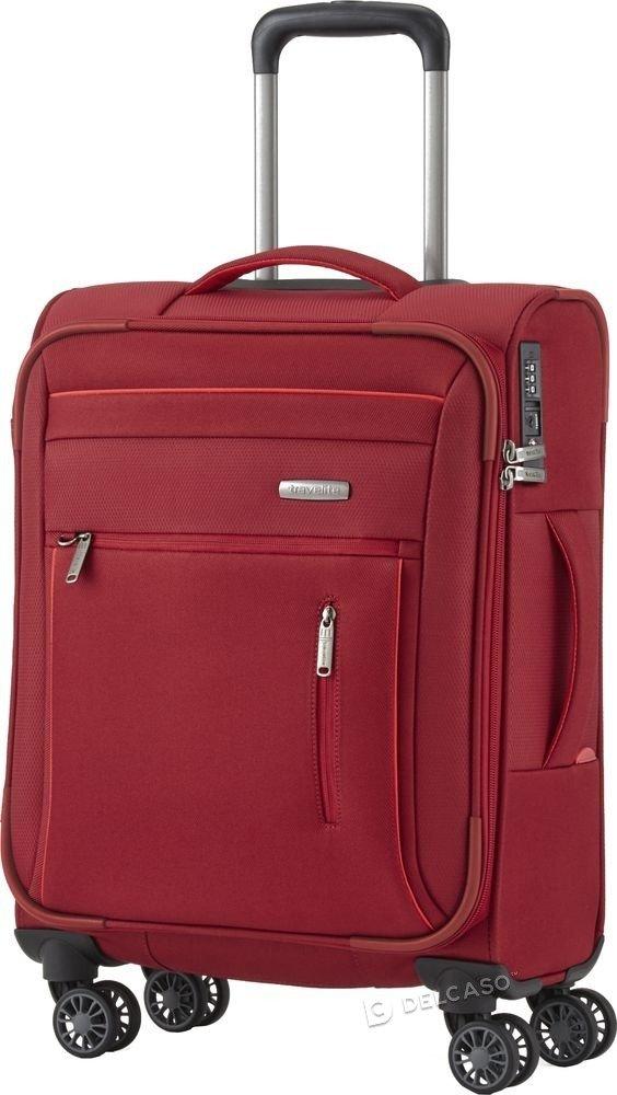 Walizka kabinowa Travelite Capri 55 cm mała czerwona