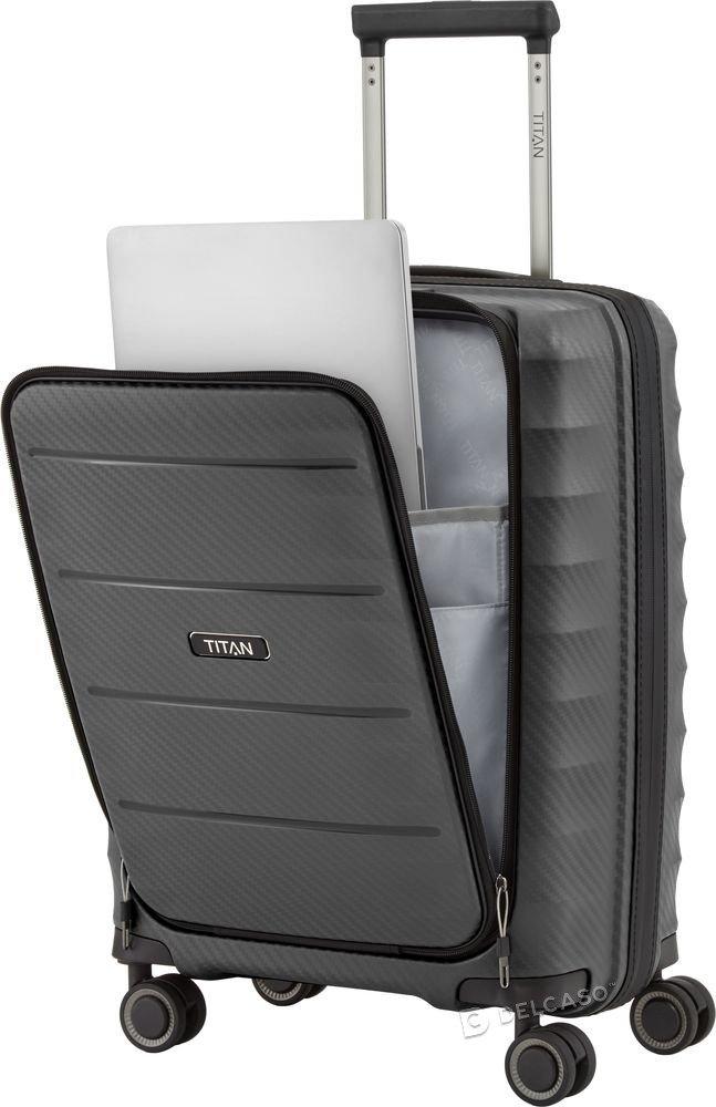 Walizka kabinowa - biznesowa Titan Highlight 55 cm mała antracytowa