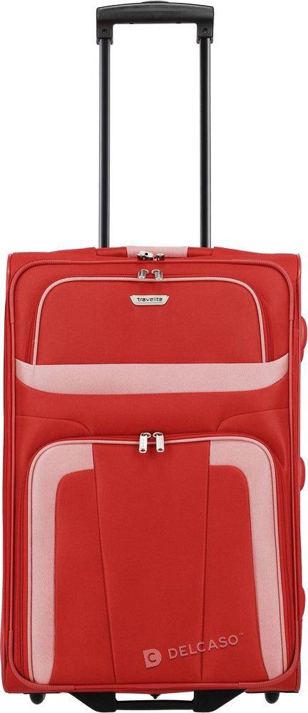 Walizka średnia 2-kółkowa Travelite Orlando 63 cm czerwona