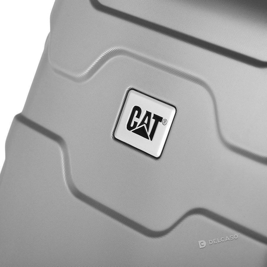 Walizka średnia Cat Caterpillar Roll Cage 67 cm srebrna