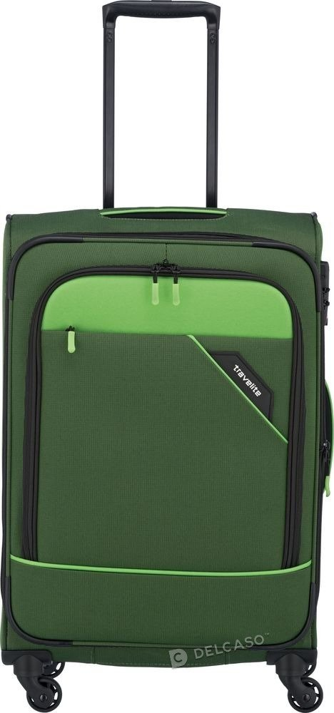 Walizka średnia Travelite Derby 66 cm zielona