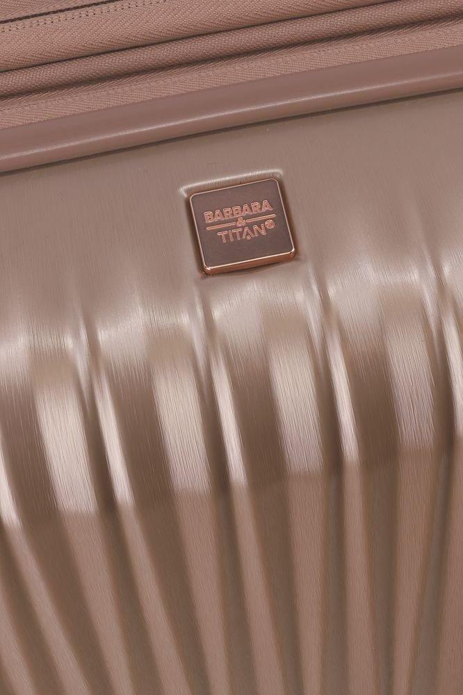 Walizka średnia - poszerzana Barbara Glint 67 cm różowa