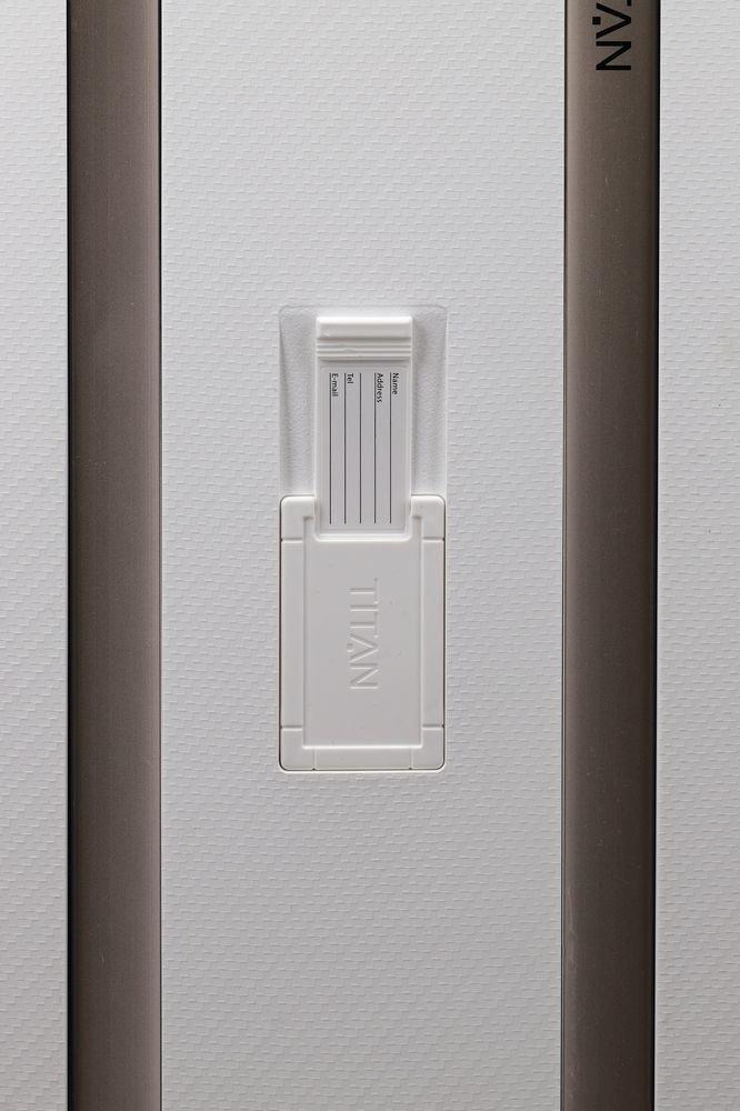 Walizka średnia - poszerzana Titan Compax biała