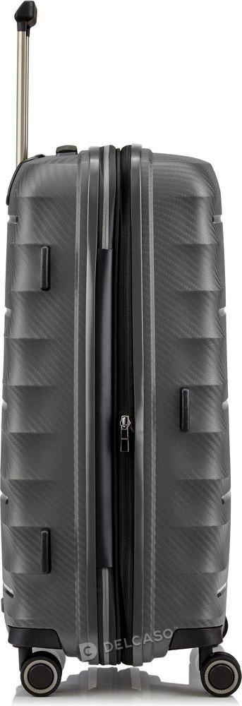 Walizka średnia - poszerzana Titan Highlight 67 cm antracytowa