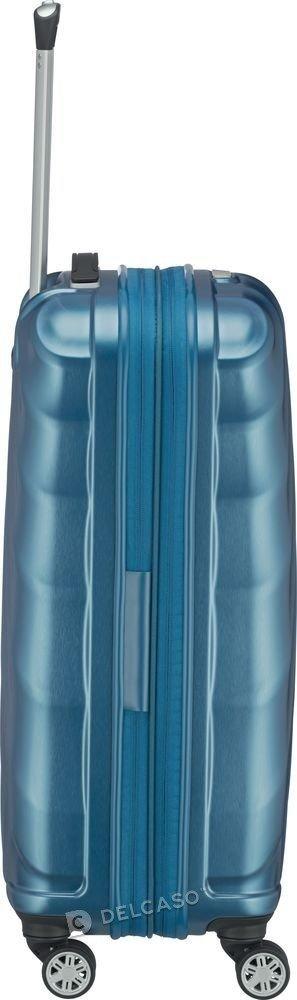 Walizka średnia - poszerzana Titan Shooting Star 66 cm niebieska