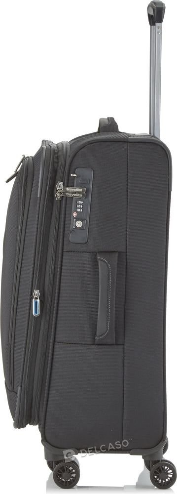 Walizka średnia poszerzana Travelite CrossLite 67 cm czarna