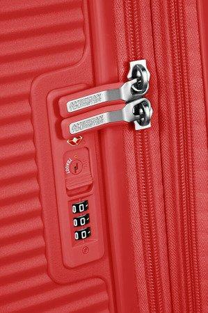 Walizka kabinowa American Tourister Soundbox 55 cm powiększana intensywna czerwień