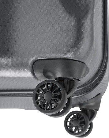 Walizka średnia - poszerzana Titan Xenon Deluxe 71 cm grafitowa