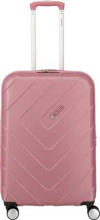 Walizka średnia - poszerzana Travelite Kalisto 67 cm Różowa